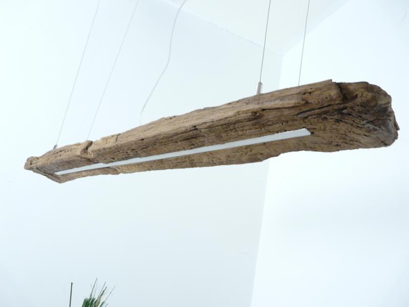 LED Lampe Hängelampe Holz antik Balken ~ 118 cm
