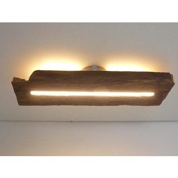 Lampe LED plafonnier bois poutres antiques ~ 55 cm