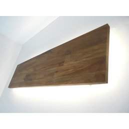 Led Wandleuchte akazienfarbig geölt mit indirekter Beleuchtung ~ 120 cm