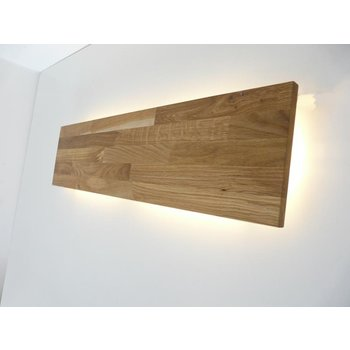Led wall lamp oiled oak ~ 120 cm