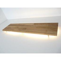 XL Led wall lamp oiled oak ~ 160 cm
