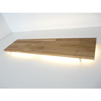 XL Led wall lamp oiled oak ~ 160 cm