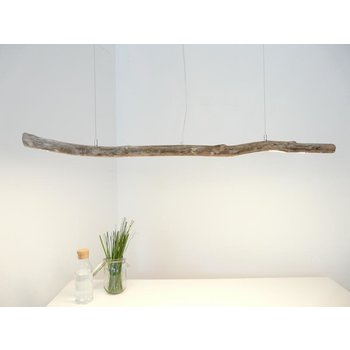 Plafonnier suspendu en bois flotté clair ~ 135 cm
