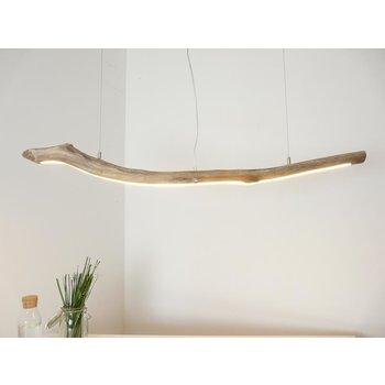 Lampe à suspension LED en bois flotté ~ 119 cm