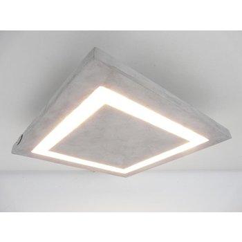 petit plafonnier lampe en béton ~ 20 x 20 cm