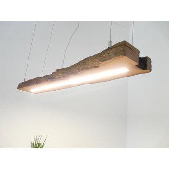 Lampe LED suspension bois poutres anciennes ~ 97 cm