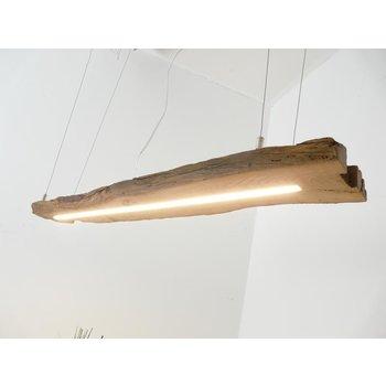Lampe à suspension LED bois antique ~ 112 cm