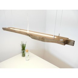 rustic LED lamp hanging light wood antique beams ~ 110 cm