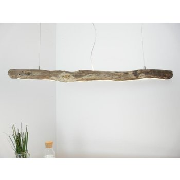 Driftwood lamp with upper and lower light ~ 119 cm