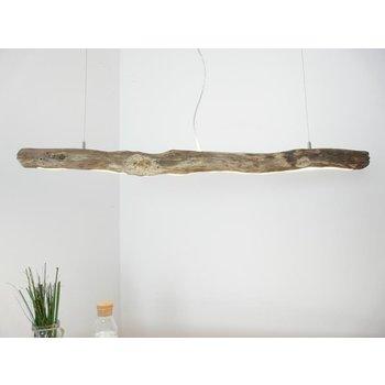 Lampe en bois flotté avec lumière supérieure et inférieure ~ 119 cm