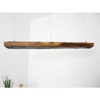 LED Lampe Hängeleuchte aus antiken Balken ~117 cm