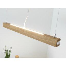 Suspension LED bois chêne huilé avec éclairage supérieur / inférieur ~ 80 cm