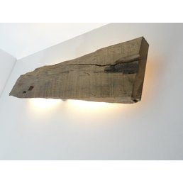 Led wall lamp made of antique wood ~ 73 cm
