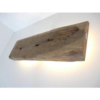 Led Wandleuchte aus antiken Holz ~ 57 cm