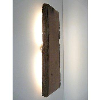 Led Wandleuchte aus antiken Holz ~ 63 cm