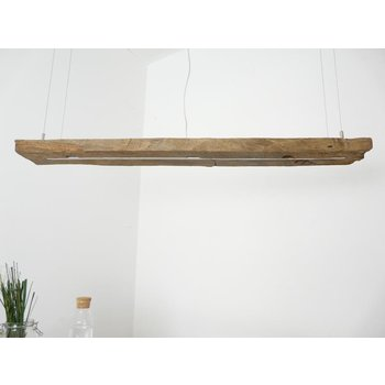 Led suspension lamp made of antique beams ~ 127 cm