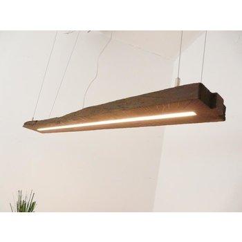 Led hanging lamp wood antique bars dark oiled ~ 126 cm