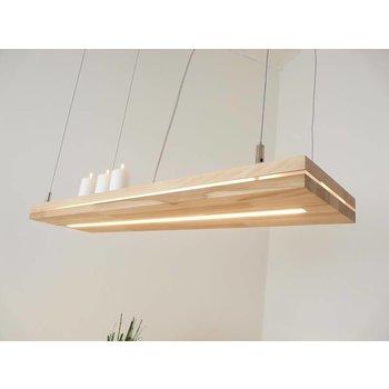 """Lampe à suspension """"Sandwich"""" en bois de hêtre ~ 100 cm"""
