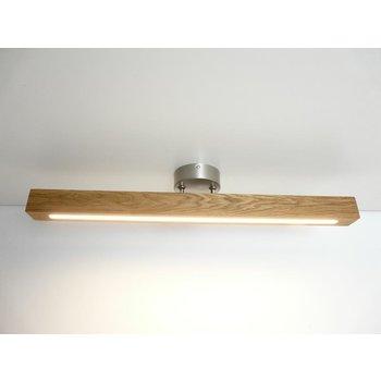 Plafonnier bois, chêne huilé ~ 80 cm