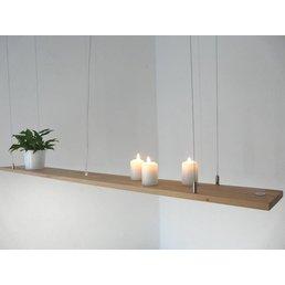 Lampe de table à manger en bois de hêtre ~ 196 cm