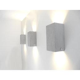 Applique lampe béton hauteur 17 cm, largeur 9,5 cm