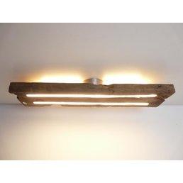 Deckenleuchte Holz antik mit indirekter Beleuchtung ~ 69 cm
