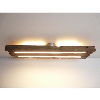 Plafonnier en bois antique avec éclairage indirect ~ 64 cm - Copy