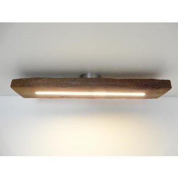 Lampe LED plafonnier bois poutres anciennes ~ 77 cm