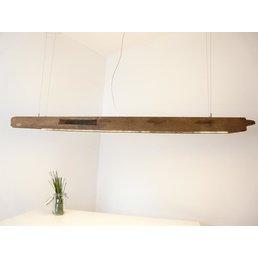 XXL Hängeleuchte aus antiken Eichenbalken ~ 206 cm