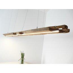 Lampe à suspension LED faite de poutres anciennes ~ 195 cm