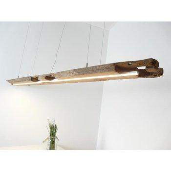 Led Hängeleuchte aus antiken Balken ~ 195 cm