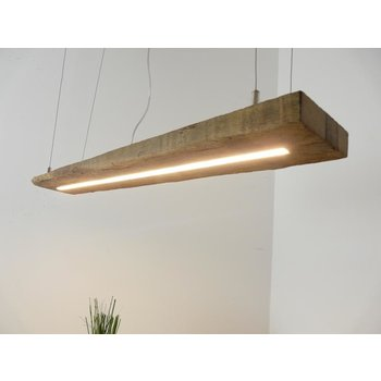 LED lamp hanging lamp made of antique beams ~ 100 cm