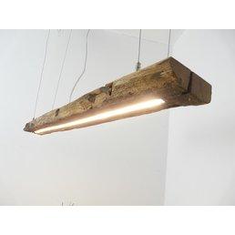 Suspension LED en poutres anciennes ~ 110 cm