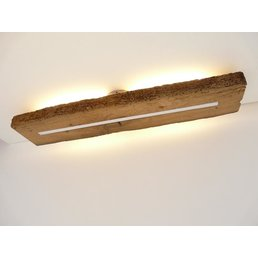 Antique wood ceiling lamp with indirect lighting ~ 83 cm