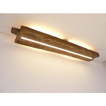 Deckenleuchte Holz antik mit indirekter Beleuchtung ~ 93 cm