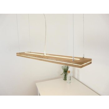 """Hanging lamp """"Sandwich"""" oiled oak with top and bottom light ~ 100 cm"""