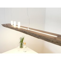 Led  Hängeleuchte aus antiken Balken ~ 168 cm