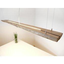 Led suspension lamp made of antique beams ~ 164 cm