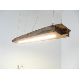 Lamp made from antique beams ~ 88 cm