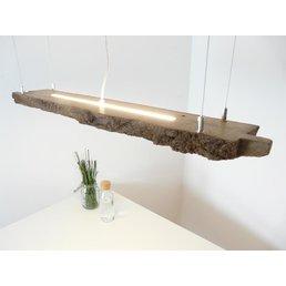 rustikale LED Lampe Hängeleuchte Holz antik Balken ~ 100 cm