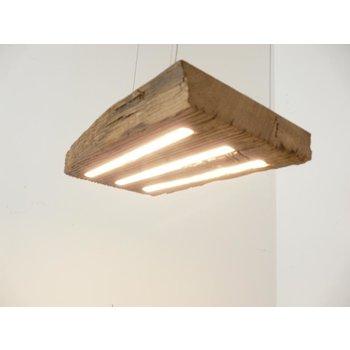 LED Lampe Hängeleuchte aus antiken Balken ~47 cm x 26 cm