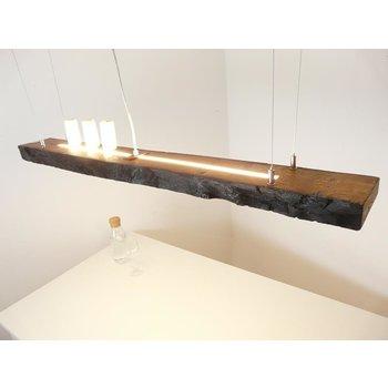 Hängeleuchte Holz antik Balken ~ 125 cm
