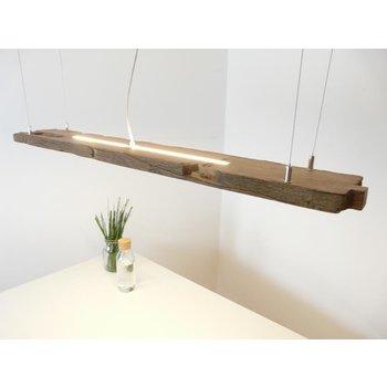 Hängeleuchte Holz antik Balken ~ 130 cm