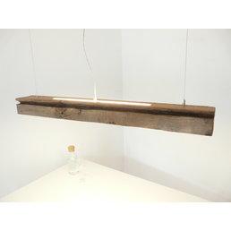 Lampe LED suspension bois poutres anciennes ~ 119 cm