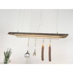 Lampe à suspension à LED en poutres anciennes ~ 114 cm