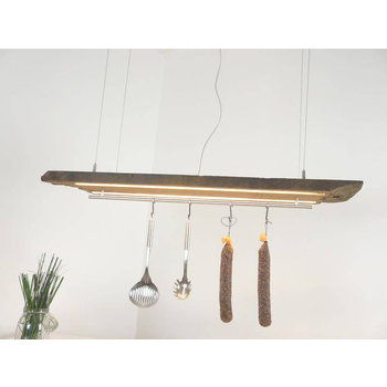 LED lamp hanging lamp made of antique beams ~ 114 cm