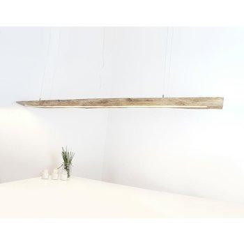 große Hängeleuchte Holz antik Balken ~ 246 cm