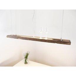 Led  Hängeleuchte aus antiken Balken ~ 130 cm