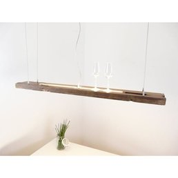 Led suspension lamp made of antique beams ~ 130 cm