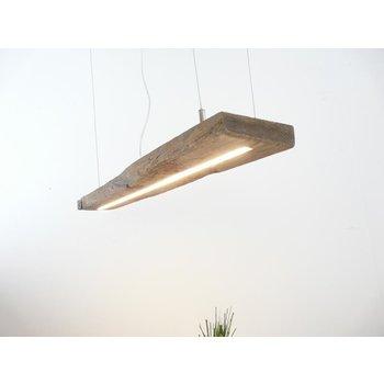Lampe LED suspension bois poutres anciennes ~ 92 cm